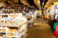Dutch Clogs Shop. Typical Dutch Clogs and Souvenirs Shop in Amsterdam, Netherlands Stock Images