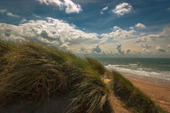 Dutch coast. Beach at Westkapelle, Netherlands Stock Image