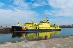 Dutch coast guard ship Stock Photography