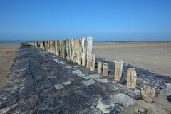 Dutch coast near Cadzand stock photography