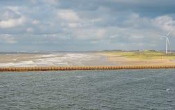 Dutch coast near IJmuiden Royalty Free Stock Photography