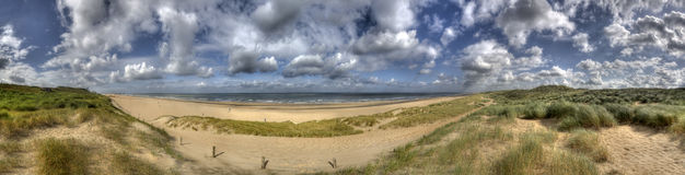 Dutch Coast. Panorama of the Dutch coast and North Sea near The Hague, Holland Stock Photos