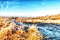 Dutch Coastal Feature. A Dutch Coastal Winter Landscape Stock Photo
