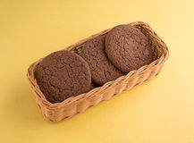 Dutch Cocoa Soft Cookies In Basket Royalty Free Stock Photo