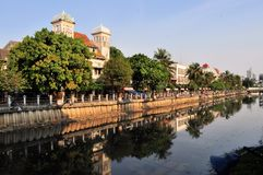 Dutch colonial architecture in Kota, Jakarta Stock Photos
