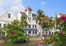 Dutch colonial buildings in jakarta indonesia Royalty Free Stock Images