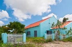 Dutch colorful houses on Bonaire, Caribbean royalty free stock photos