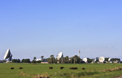 Dutch communication satellites in Burum, Friesland Royalty Free Stock Photo