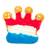 Dutch cookie in crown shape Stock Image
