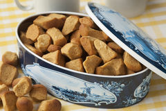 Dutch cookie jar with pepernoten Royalty Free Stock Photography