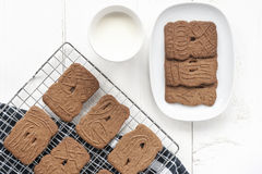 Dutch Cookies with Milk Stock Photography