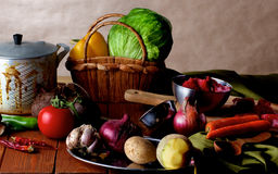 Dutch Cooking Still Life Royalty Free Stock Photography