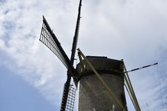 Dutch corn windmill Royalty Free Stock Photos