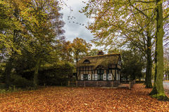 Dutch Country House in Autumn Royalty Free Stock Photos