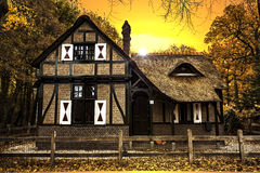 Dutch Country House sunset Stock Photos