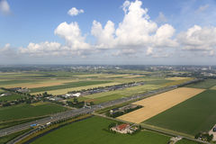 Dutch Countryside Aerial View Stock Photos