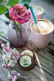 Dutch cup of coffee stock images