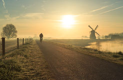 Dutch cyclist Royalty Free Stock Photography