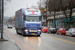 Dutch DAF XF105  Flower Truck in Finland Stock Photo
