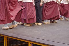 Dutch dancers in festival Stock Photography
