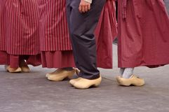 Dutch dancers in festival Royalty Free Stock Image