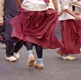 Dutch dancers in festival Stock Photos