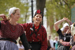 Dutch Dancers in Holland Michigan. Female Dutch Dancers at the annual Tulip Time in Holland Michigan Stock Photo