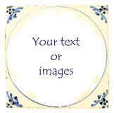 Dutch Delft blue tile with room for text royalty free stock photos