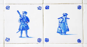 dutch delft blue tiles Stock Image