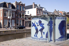Dutch Design Urinal in the city of Groningen royalty free stock images