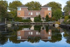 Dutch Detached Modern Houses Stock Photo