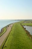 Dutch dike along the Oosterschelde Stock Images