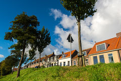 Dutch dike houses Stock Photo