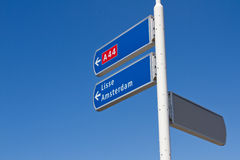 Dutch directional sign stock images
