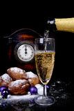 Dutch donut also known as oliebollen, traditional New Year's eve Stock Photography
