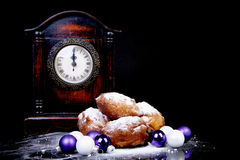Dutch donut also known as oliebollen, traditional New Year's eve Stock Photos