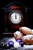 Dutch donut also known as oliebollen, traditional New Year's eve Royalty Free Stock Images