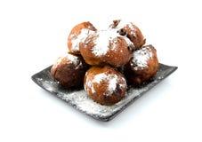 Dutch donut oliebollen Royalty Free Stock Photo
