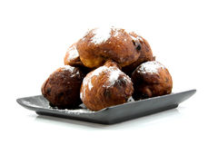 Dutch donut oliebollen Royalty Free Stock Image