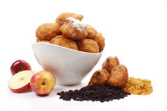 Dutch donuts, called oliebollen Royalty Free Stock Images