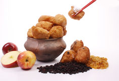 Dutch donuts, called oliebollen Stock Images