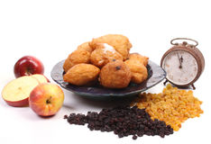 Dutch donuts, called oliebollen Royalty Free Stock Image