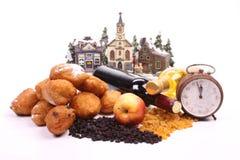 Dutch donuts, called oliebollen Stock Photo
