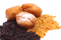 Dutch donuts, called oliebollen Stock Photos