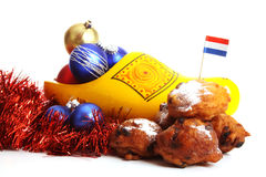 Dutch donuts called Oliebollen Royalty Free Stock Photo