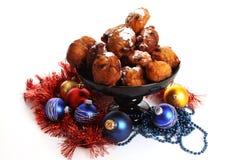 Dutch donuts called Oliebollen Stock Photos