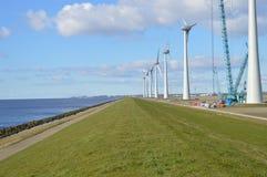 Dutch eco windmills, Noordoostpolder, Netherlands Stock Photography