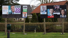 Dutch Election billboard Royalty Free Stock Image
