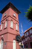 Dutch Era Clock Tower Stock Photo