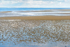 Dutch estuary at low tide Stock Photos